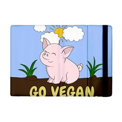 Go Vegan   Cute Pig Ipad Mini 2 Flip Cases by Valentinaart