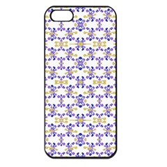 Decorative Ornate Pattern Apple Iphone 5 Seamless Case (black) by dflcprints