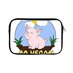 Go Vegan   Cute Pig Apple Ipad Mini Zipper Cases by Valentinaart