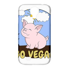 Go Vegan   Cute Pig Samsung Galaxy S4 Classic Hardshell Case (pc+silicone) by Valentinaart