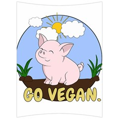 Go Vegan   Cute Pig Back Support Cushion by Valentinaart