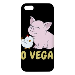 Go Vegan   Cute Pig And Chicken Iphone 5s/ Se Premium Hardshell Case by Valentinaart