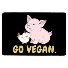 Go Vegan   Cute Pig And Chicken Ipad Air Flip by Valentinaart