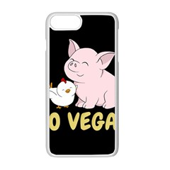 Go Vegan   Cute Pig And Chicken Apple Iphone 8 Plus Seamless Case (white) by Valentinaart