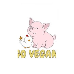 Go Vegan   Cute Pig And Chicken Memory Card Reader by Valentinaart