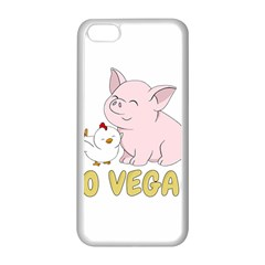 Go Vegan   Cute Pig And Chicken Apple Iphone 5c Seamless Case (white) by Valentinaart