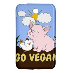 Go Vegan   Cute Pig And Chicken Samsung Galaxy Tab 3 (7 ) P3200 Hardshell Case  by Valentinaart