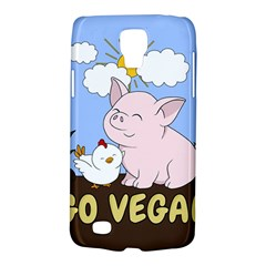 Go Vegan   Cute Pig And Chicken Galaxy S4 Active by Valentinaart