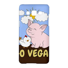 Go Vegan   Cute Pig And Chicken Samsung Galaxy A5 Hardshell Case  by Valentinaart