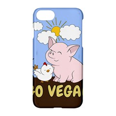 Go Vegan   Cute Pig And Chicken Apple Iphone 8 Hardshell Case by Valentinaart