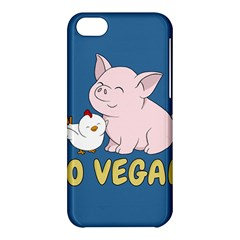 Go Vegan   Cute Pig And Chicken Apple Iphone 5c Hardshell Case by Valentinaart