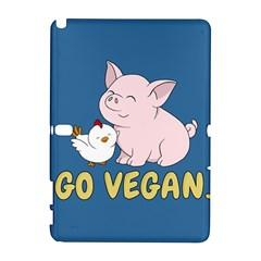 Go Vegan   Cute Pig And Chicken Galaxy Note 1 by Valentinaart