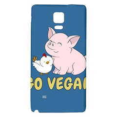 Go Vegan   Cute Pig And Chicken Galaxy Note 4 Back Case by Valentinaart