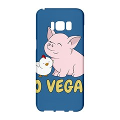 Go Vegan   Cute Pig And Chicken Samsung Galaxy S8 Hardshell Case