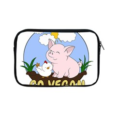 Go Vegan   Cute Pig And Chicken Apple Ipad Mini Zipper Cases