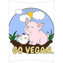 Go Vegan   Cute Pig And Chicken Back Support Cushion by Valentinaart