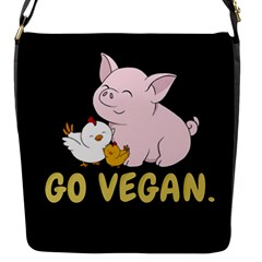 Go Vegan   Cute Pig And Chicken Flap Messenger Bag (s)