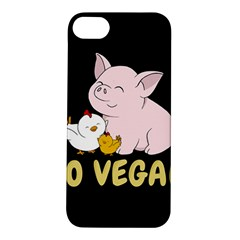 Go Vegan   Cute Pig And Chicken Apple Iphone 5s/ Se Hardshell Case