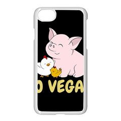 Go Vegan   Cute Pig And Chicken Apple Iphone 8 Seamless Case (white) by Valentinaart
