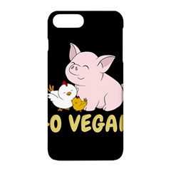 Go Vegan   Cute Pig And Chicken Apple Iphone 8 Plus Hardshell Case by Valentinaart