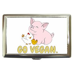 Go Vegan   Cute Pig And Chicken Cigarette Money Cases by Valentinaart