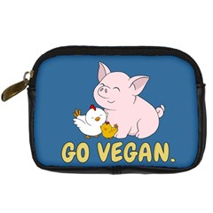 Go Vegan   Cute Pig And Chicken Digital Camera Cases by Valentinaart