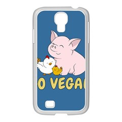 Go Vegan   Cute Pig And Chicken Samsung Galaxy S4 I9500/ I9505 Case (white) by Valentinaart