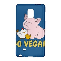Go Vegan   Cute Pig And Chicken Galaxy Note Edge by Valentinaart