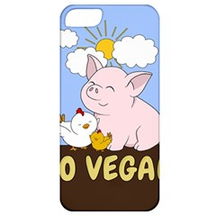 Go Vegan   Cute Pig And Chicken Apple Iphone 5 Classic Hardshell Case by Valentinaart