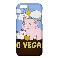 Go Vegan   Cute Pig And Chicken Apple Iphone 6 Plus/6s Plus Hardshell Case by Valentinaart
