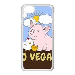 Go Vegan   Cute Pig And Chicken Apple Iphone 8 Seamless Case (white)