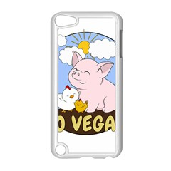 Go Vegan   Cute Pig And Chicken Apple Ipod Touch 5 Case (white) by Valentinaart