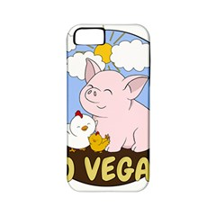 Go Vegan   Cute Pig And Chicken Apple Iphone 5 Classic Hardshell Case (pc+silicone) by Valentinaart