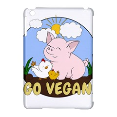 Go Vegan   Cute Pig And Chicken Apple Ipad Mini Hardshell Case (compatible With Smart Cover)