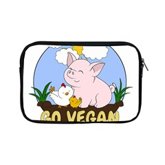 Go Vegan   Cute Pig And Chicken Apple Ipad Mini Zipper Cases by Valentinaart