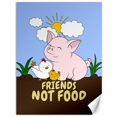 Friends Not Food   Cute Pig And Chicken Canvas 36  X 48   by Valentinaart