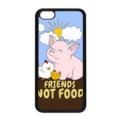 Friends Not Food   Cute Pig And Chicken Apple Iphone 5c Seamless Case (black) by Valentinaart