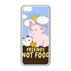 Friends Not Food   Cute Pig And Chicken Apple Iphone 5c Seamless Case (white) by Valentinaart
