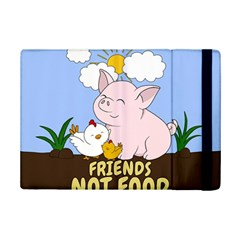 Friends Not Food   Cute Pig And Chicken Ipad Mini 2 Flip Cases by Valentinaart