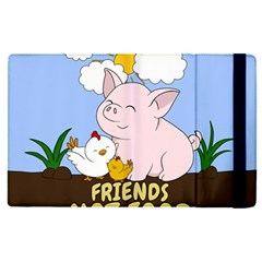 Friends Not Food   Cute Pig And Chicken Apple Ipad Pro 9 7   Flip Case by Valentinaart