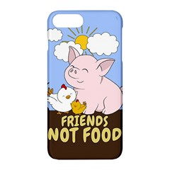 Friends Not Food   Cute Pig And Chicken Apple Iphone 7 Plus Hardshell Case by Valentinaart