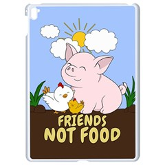 Friends Not Food   Cute Pig And Chicken Apple Ipad Pro 9 7   White Seamless Case by Valentinaart