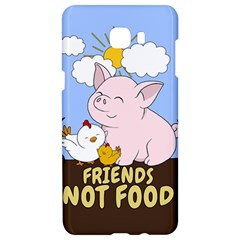 Friends Not Food   Cute Pig And Chicken Samsung C9 Pro Hardshell Case