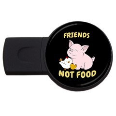 Friends Not Food   Cute Pig And Chicken Usb Flash Drive Round (2 Gb)