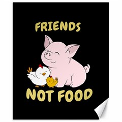 Friends Not Food   Cute Pig And Chicken Canvas 16  X 20   by Valentinaart