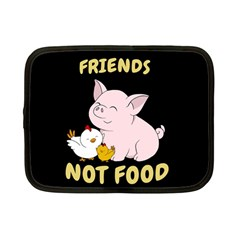 Friends Not Food   Cute Pig And Chicken Netbook Case (small)  by Valentinaart