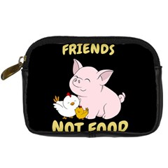 Friends Not Food   Cute Pig And Chicken Digital Camera Cases by Valentinaart