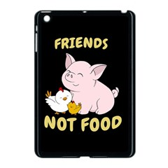 Friends Not Food   Cute Pig And Chicken Apple Ipad Mini Case (black)