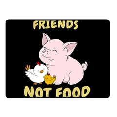 Friends Not Food   Cute Pig And Chicken Fleece Blanket (small) by Valentinaart