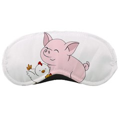 Friends Not Food   Cute Pig And Chicken Sleeping Masks by Valentinaart